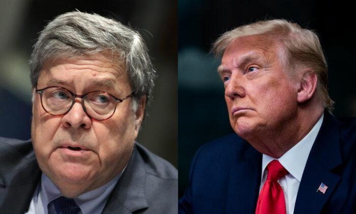 윌리엄 바 법무장관(왼쪽)과 트럼프 대통령 | Getty Images