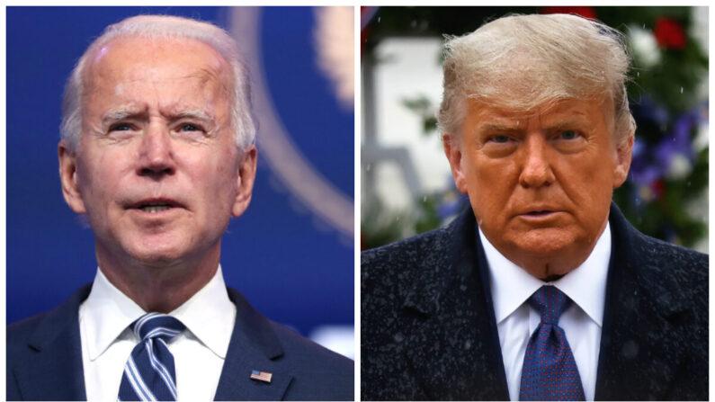 민주당 조 바이든 대선후보(왼쪽)과 도널드 트럼프 대통령 | Joe Raedle/Getty Images; Carlos Barria/Reuters=연합