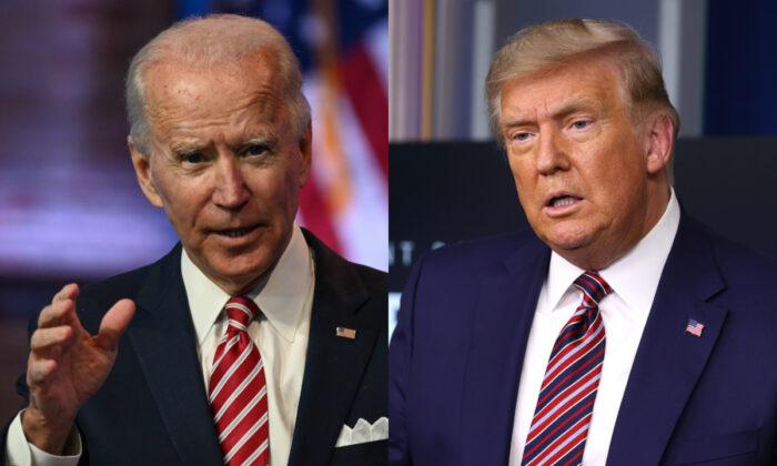민주당 조 바이든 대선후보(왼쪽)과 도널드 트럼프 대통령   Getty Images