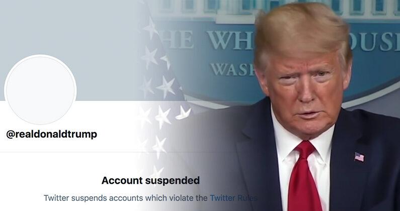 도널드 트럼프 대통령과 영구삭제된 트위터 계정 | 화면 캡처
