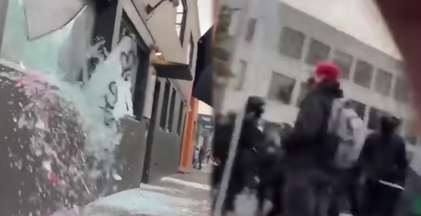 """극좌단체 안티파, 바이든 반대 폭력시위 """"통치를 거부한다"""""""