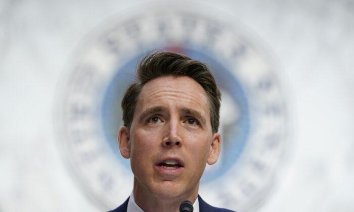 조시 홀리 미국 공화당 상원의원 | Susan Walsh/Pool/AP Photo=연합