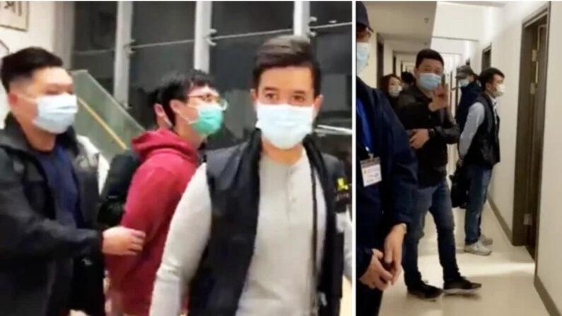 25일 홍콩 경찰이 중문대 기숙사를 야간 급습해 전 학생회장 등 3명을 체포했다. | SNS화면 캡처