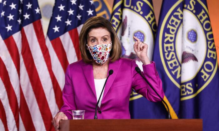 미국 민주당 낸시 펠로시 하원의장 | Charlotte Cuthbertson/The Epoch Times