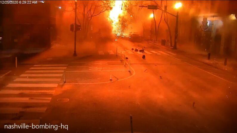 내슈빌 폭발현장 | 화면캡처