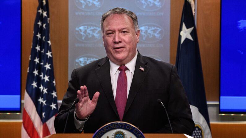 마이크 폼페이오 전 미국 국무장관. 2020년 10월 21일(현지시각) 재직 당시 모습 | NICHOLAS KAMM/POOL/AFP via Getty Images=연합