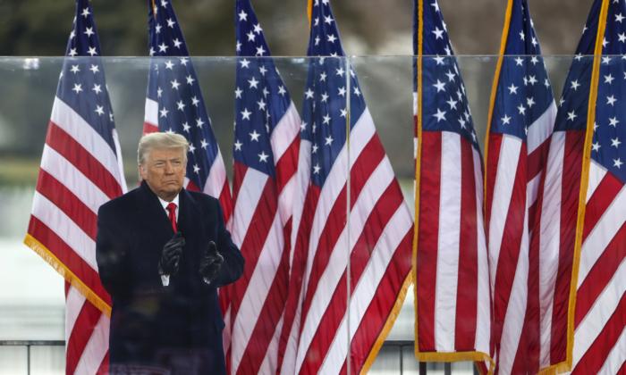 도널드 트럼프 미국 대통령이 지난 1월 6일(현지시각) 미국 워싱턴DC에서 열린 '도둑질을 멈춰라' 집회에 도착하고 있다.  | Tasos Katopodis/Getty Images