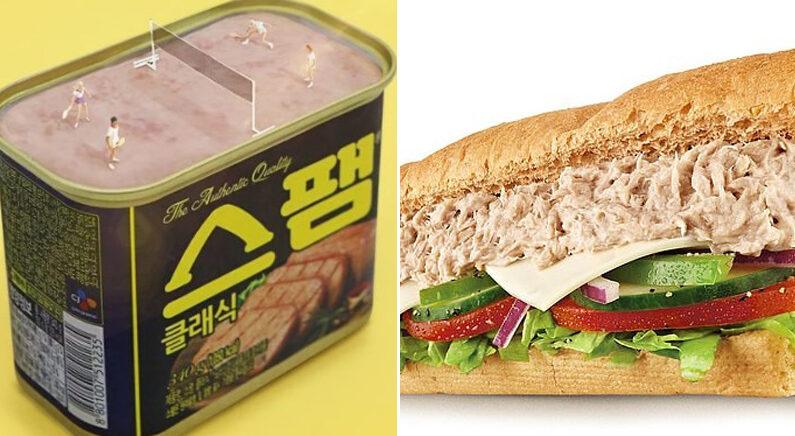 [좌] CJ제일제당 [우] 써브웨이 참치 샌드위치