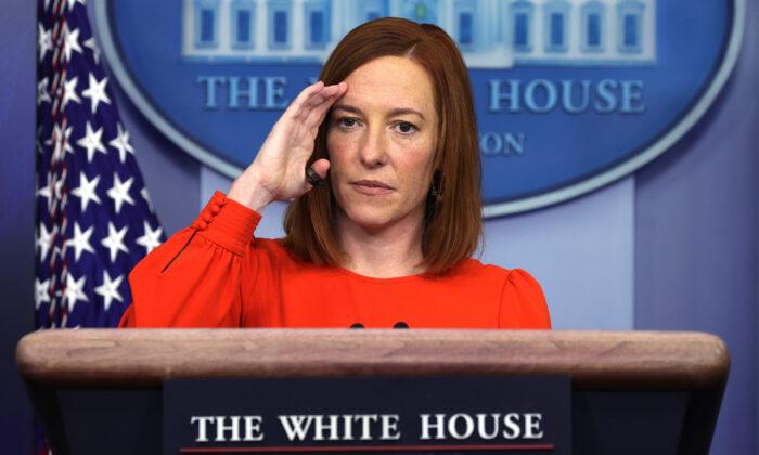 젠 사키 미 백악관 대변인 | Alex Wong/Getty Images