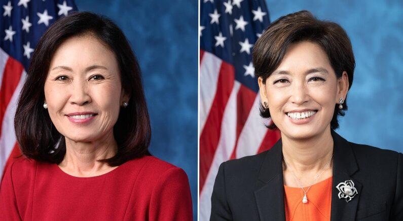 미셸 박 스틸 의원(왼쪽)과 영 김 의원(오른쪽) | 페이스북 화면 캡처