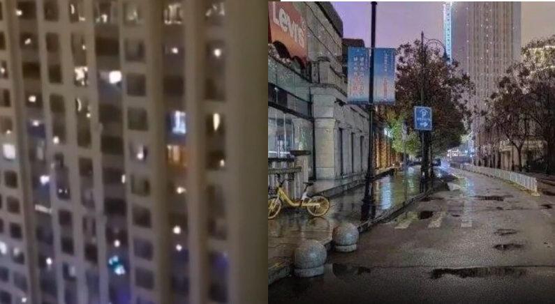 [좌] 중국 지린성 퉁화시의 봉쇄된 아파트단지 [우] 사람의 흔적을 찾기 어려워진 중국의 거리 | 화면 캡처