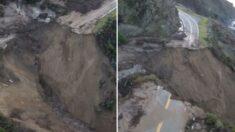'환상 드라이브 코스' 미 캘리포니아 1번 국도, 겨울 폭풍에 유실