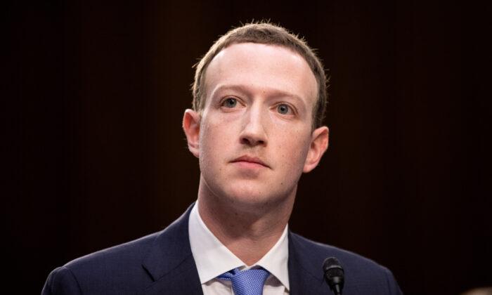 마크 저커버그 페이스북 CEO | Samira Bouaou/The Epoch Times