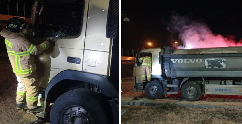 덤프트럭 폭발 위험에도 몸 던진 소방관, 대형화재 막았다