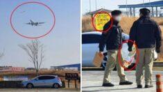 """""""불법인 줄 몰랐어요"""" 인천공항 활주로 근처에서 방패연 날린 가족"""