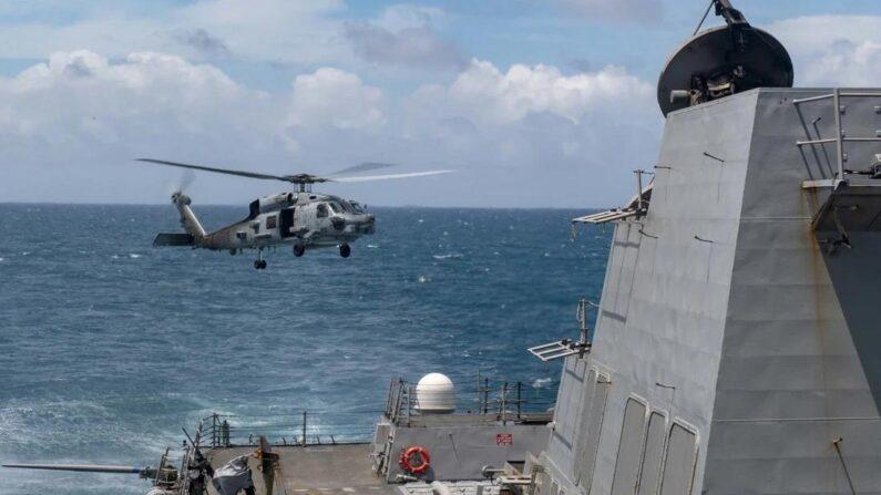 대만해협에서 작전 중인 미군 구축함 | 미군 발행 사진 캡처