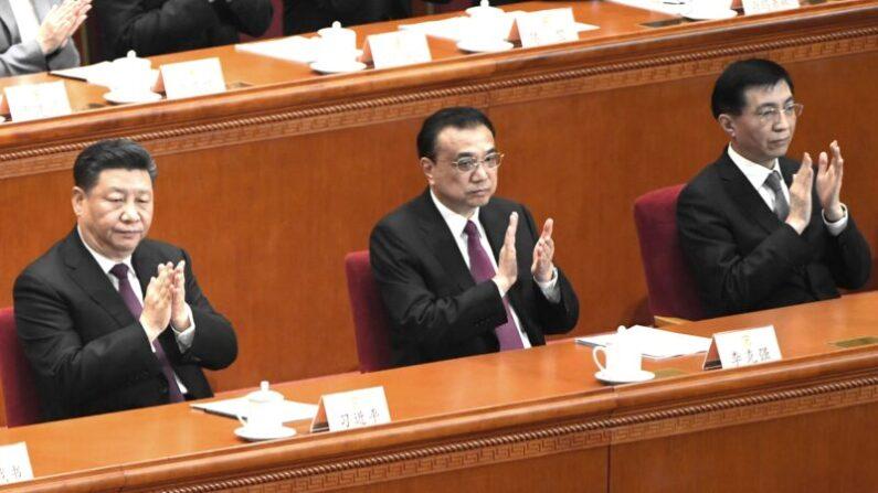 중국 공산당 지도부. 왼쪽부터 시진핑, 리커창, 왕후닝 | GREG BAKER/AFP/Getty Images