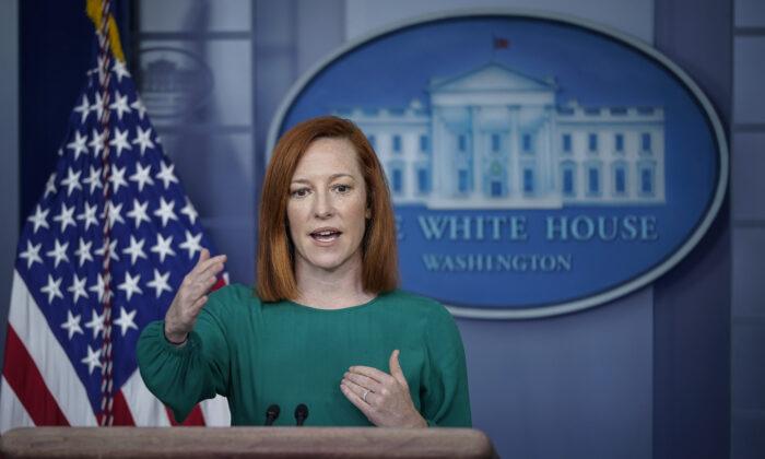 젠 사키 백악관 대변인. 2021.3.15 | Drew Angerer/Getty Images