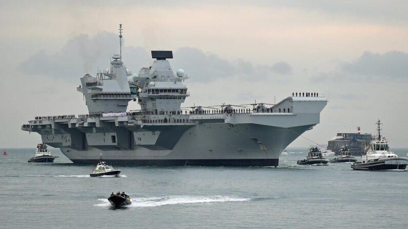 영국 최신 항공모함 퀸 엘리자베스호 | EPA=연합뉴스