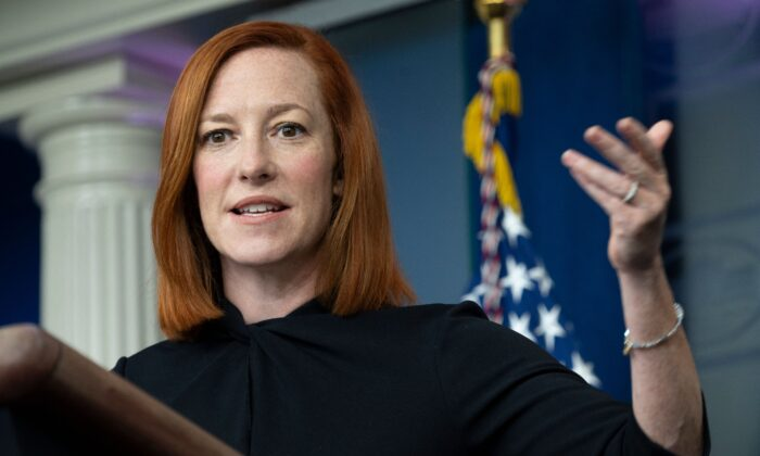 젠 사키 미국 백악관 대변인 2021.4.1 | Andrew Caballero-Reynolds/AFP via Getty Images