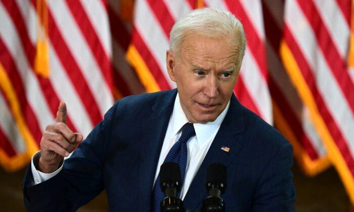 조 바이든 미국 대통령. 2021.3.31   Jim Watson/AFP via Getty Images