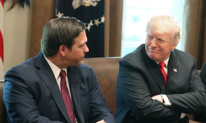 """트럼프 """"2024 대선 출마하면 플로리다 주지사 러닝메이트 고려"""""""