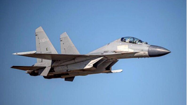 중공 인민해방군 전투기 젠-16 | 중화민국 국방부 제공