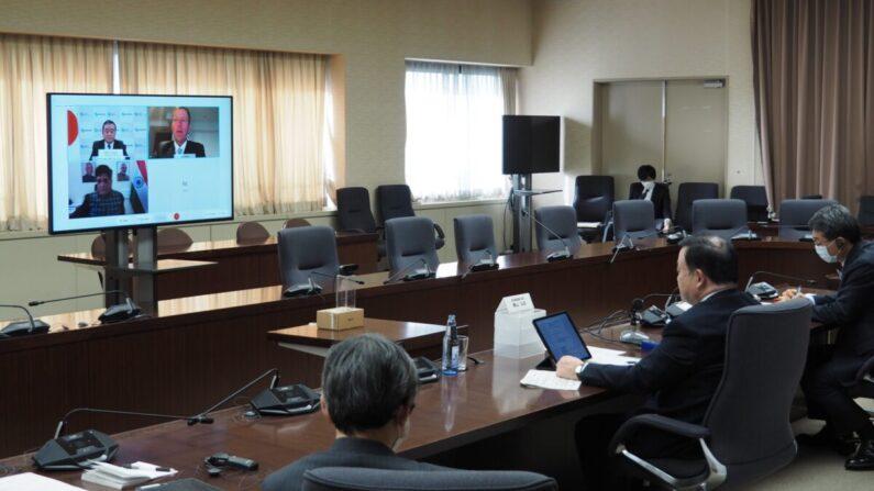 일본·호주·인도 경제장관 화상회의 | 일본 경제산업성 제공