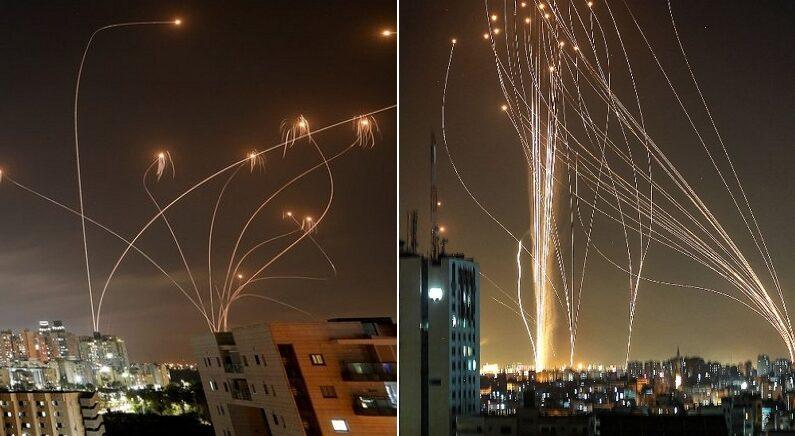 공중에서 '미사일 1000발' 격추해 자국민 지켜낸 이스라엘 '아이언돔'