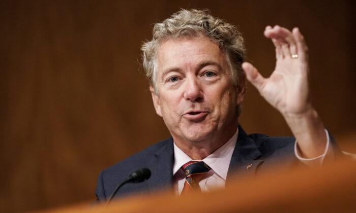 미국 공화당의 중진인 랜드 폴 상원의원. 2020.9.21 | Joshua Roberts/Pool/Getty Images