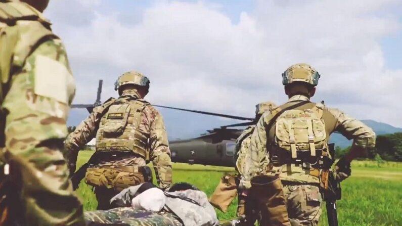 기사와 직접 관련 없는 자료 사진. 작년 6월 미군이 공개한 대만군과의 연합훈련 장면. 2019년 2월 촬영된 것으로 알려졌다.   미군 제1특전단 페이스북 캡처