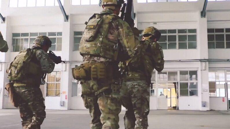 기사와 직접 관련 없는 자료사진. 미군과 연합 훈련 중인 대만군. 2019년 2월 제작, 작년에 공개된 미군 제1특전단 홍보영상 중 한 장면 | 화면 캡처