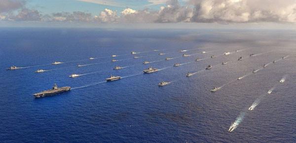 2014년 림팩 훈련 당시 美해군 제3함대 모습 | 美제3함대 사령부 공개사진