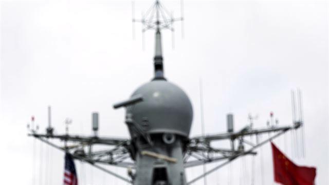사진은 기사내용과 직접 관련 없음. 중공 인민해방군 구축함 레이더 부분 | AP 연합뉴스