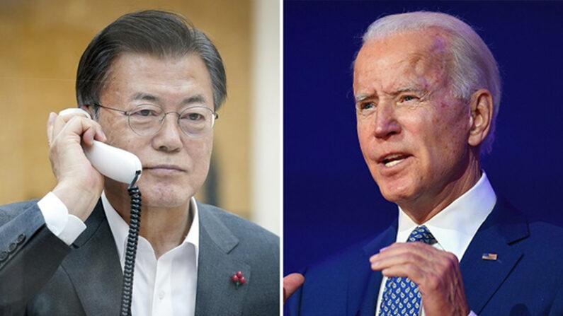 문재인 대통령(왼쪽), 조 바이든 미국 대통령   연합뉴스
