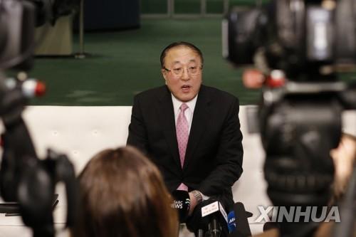 장쥔 유엔 주재 중국 대사 | 신화=연합뉴스