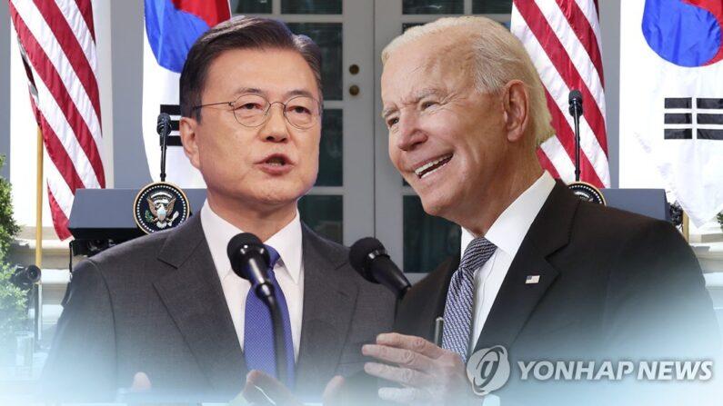 (왼쪽부터)문재인 대통령ㆍ조 바이든 미국 대통령.   | 연합뉴스TV 제공
