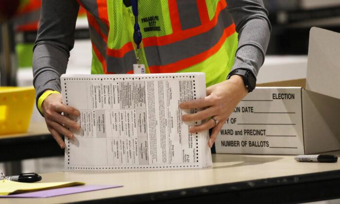 미국 펜실베이니아주의 투표용지들. | Spencer Platt/Getty Images