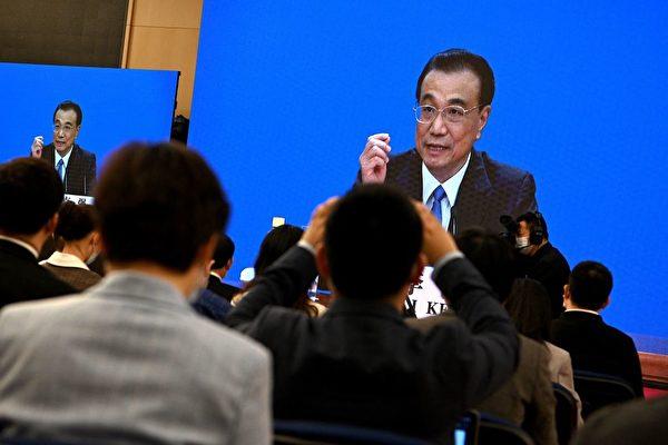 3월 11일 리커창(李克強) 총리가 화상으로 중공 인민대표대회 기자회견에 참석했다. | Noel Celis/AFP via Getty Images/연합