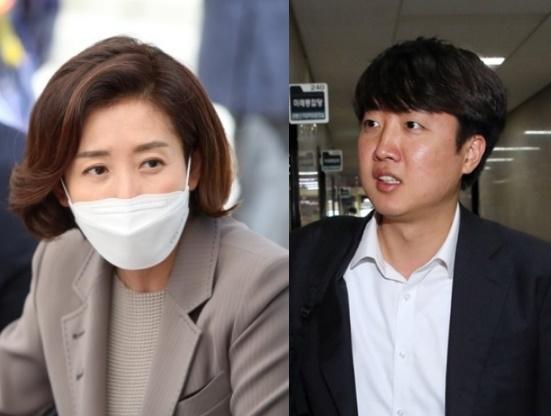 왼쪽부터 나경원 전 의원과 이준석 전 최고위원. | 연합뉴스