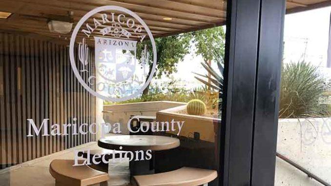 미국 남서부 애리조나주 마리코파 카운티 선거국 입구   마리코파 카운티 제공