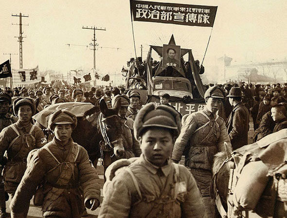 6.25 전쟁 당시 한반도로 파병된 중국 공산당 군대 소속 병사들 | 자료사진