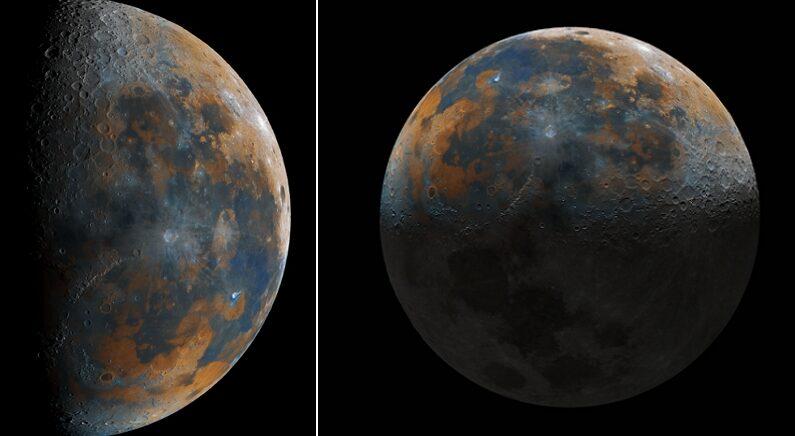 천체학자가 꿈인 16살 소년이 5만장 넘게 달 사진 찍어서 1장으로 합친 놀라운 결과