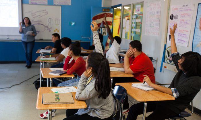 미국 뉴욕 브룩클린의 한 자율형 공립 고등학교(차터스쿨). 코로나19 확산 전 모습이다. | 페테르 사브/에포크타임스
