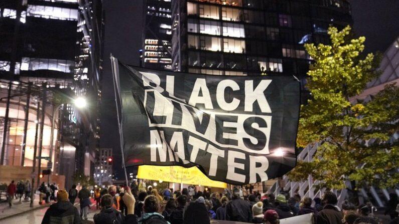 작년 11월 미국 시애틀에서 열린 블랙라이브스매터 시위 | AP=연합뉴스 자료사진