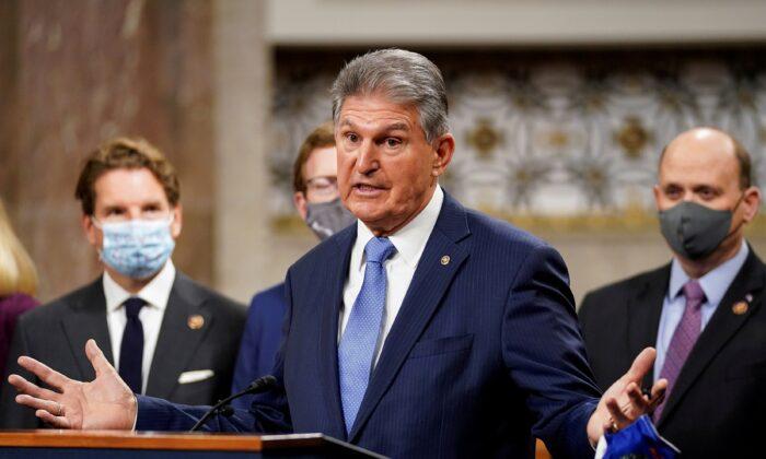조 맨친 민주당 상원의원. 2020.12.1   Kevin Lamarque/Reuters/ 연합