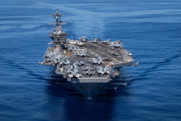 미 해군 핵추진 항공모함 칼 빈슨호   미 해군 제공