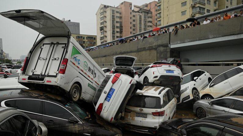 허난성 폭우 현장   연합뉴스