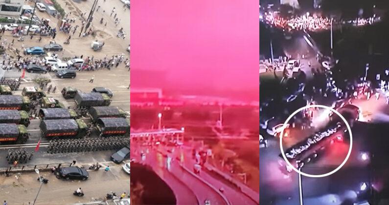 홍수로 터널이 침수된 중국 허난성 정저우 | 웨이보
