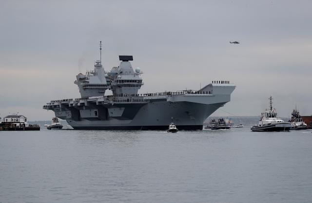 영국 항공모함 퀸 엘리자베스 호 | 로이터/연합